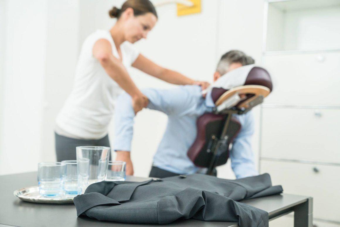 Vitalisten Massage am Arbeitsplatz